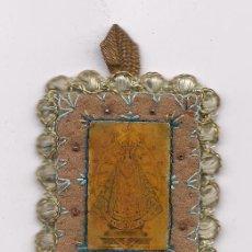 Antigüedades: ANTIGUO ESCAPULARIO BORDADO RELIGIOSO CATOLICO RELIQUIA SCAPULAR VIRGEN DE LUJAN ENVIO GRATIS. Lote 96080891
