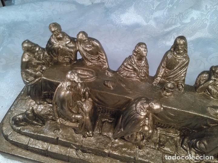 Antigüedades: SANTA CENA. GRUPO ESCULTORICO EN ESTUCO DORADO. CENTROEUROPA. SEGUNDO CUARTO DEL S. XX. - Foto 5 - 96104575