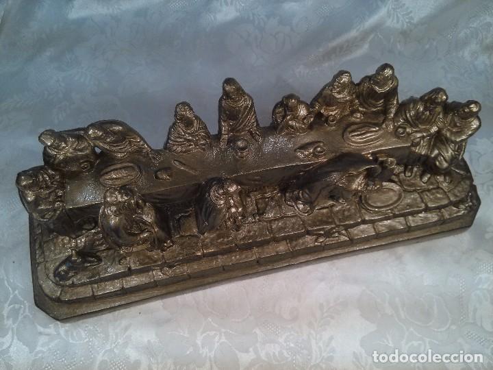 Antigüedades: SANTA CENA. GRUPO ESCULTORICO EN ESTUCO DORADO. CENTROEUROPA. SEGUNDO CUARTO DEL S. XX. - Foto 6 - 96104575