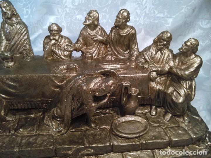 Antigüedades: SANTA CENA. GRUPO ESCULTORICO EN ESTUCO DORADO. CENTROEUROPA. SEGUNDO CUARTO DEL S. XX. - Foto 7 - 96104575