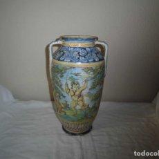 Antigüedades: ANTIGUO JARRON DE TALAVERA FIRMADO EN LA BASE VER FOTOS. Lote 96110899
