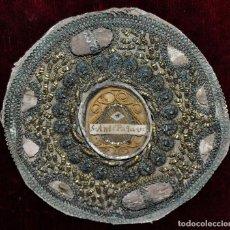 Antigüedades: ANTIGUO RELICARIO DEL SIGLO XIX CON RELIQUIA DE S. ANTONIO DE PADUA. Lote 96134579