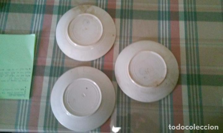Antigüedades: Lote de 3 platos de postre. San Juan de Aznalfarache - Foto 2 - 96141319