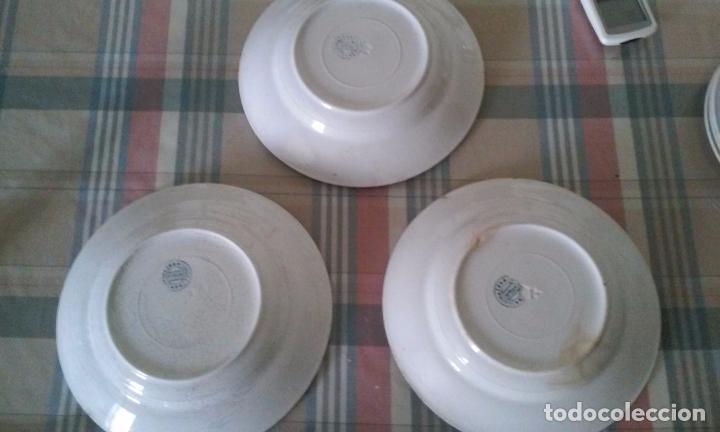 Antigüedades: Lote de 6 platos hondos. San Juan de Aznalfarache. Sevilla - Foto 5 - 96141519