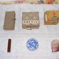 Antigüedades: CONJUNTO DE SELLOS LACRE CHINOS. Lote 96167215