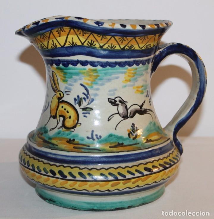 JARRA EN CERÁMICA ESMALTADA DE TRIANA - SANTA ANA - PRINCIPIOS DEL SIGLO XX (Antigüedades - Porcelanas y Cerámicas - Triana)