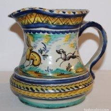 Antigüedades: JARRA EN CERÁMICA ESMALTADA DE TRIANA - SANTA ANA - PRINCIPIOS DEL SIGLO XX. Lote 96173863