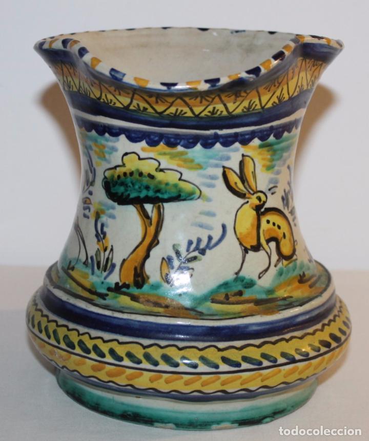 Antigüedades: JARRA EN CERÁMICA ESMALTADA DE TRIANA - SANTA ANA - PRINCIPIOS DEL SIGLO XX - Foto 3 - 96173863