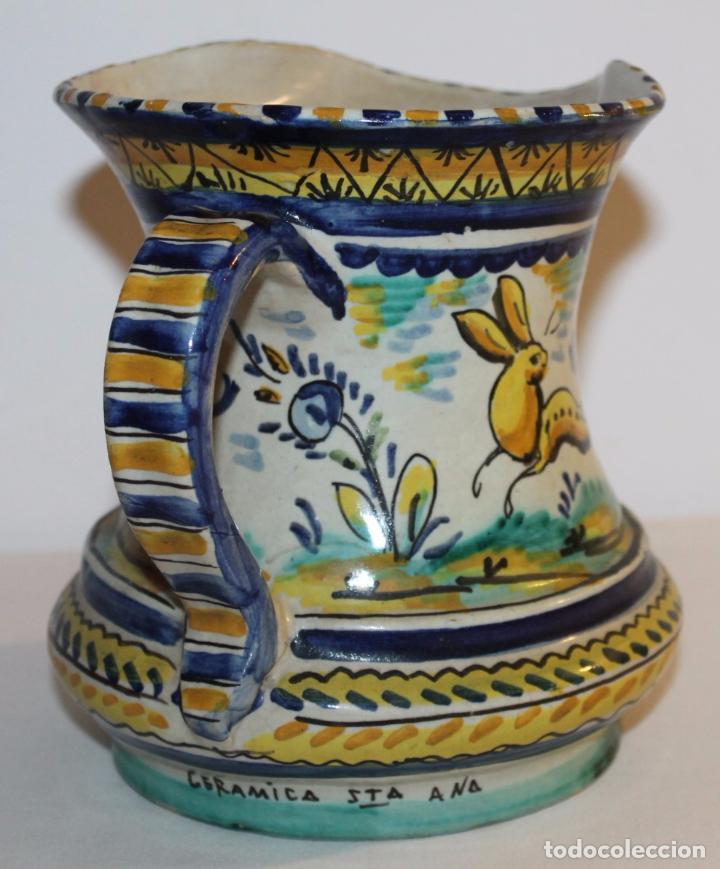Antigüedades: JARRA EN CERÁMICA ESMALTADA DE TRIANA - SANTA ANA - PRINCIPIOS DEL SIGLO XX - Foto 4 - 96173863