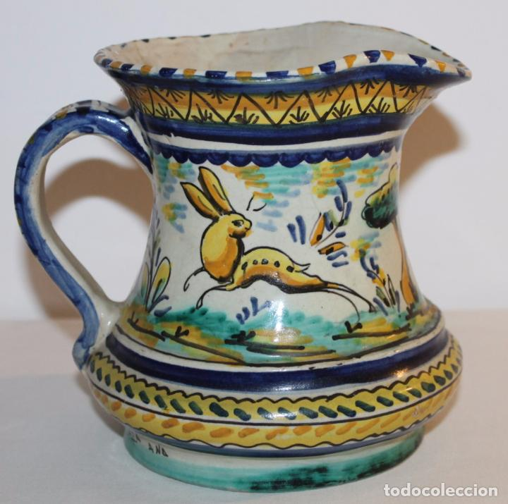 Antigüedades: JARRA EN CERÁMICA ESMALTADA DE TRIANA - SANTA ANA - PRINCIPIOS DEL SIGLO XX - Foto 5 - 96173863