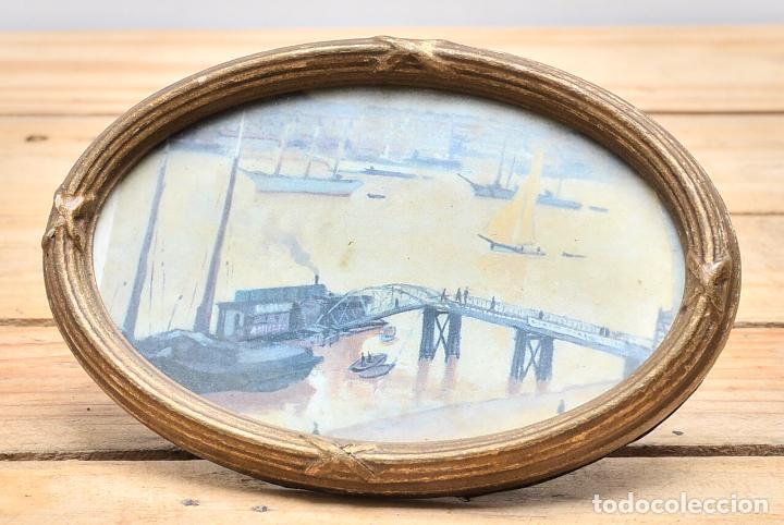antiguo marco ovalado de madera y cristal - peq - Comprar Marcos ...