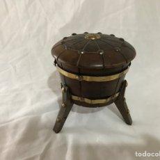 Antigüedades: TABAQUERA DE MADERA. Lote 96180135