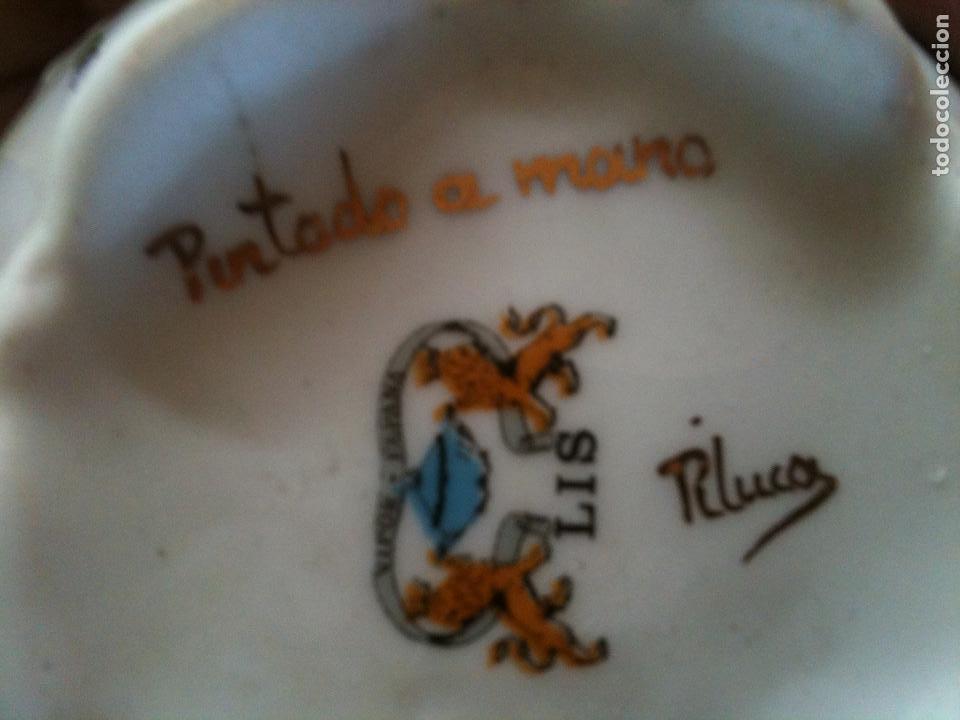 Antigüedades: JUEGO DE CAFE,COMPLETO-PINTADO A MANO,PILUCA-VIPOR-ESPAÑA-LIS - Foto 2 - 96184831