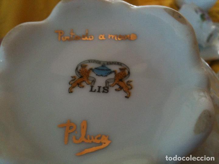 Antigüedades: JUEGO DE CAFE,COMPLETO-PINTADO A MANO,PILUCA-VIPOR-ESPAÑA-LIS - Foto 4 - 96184831
