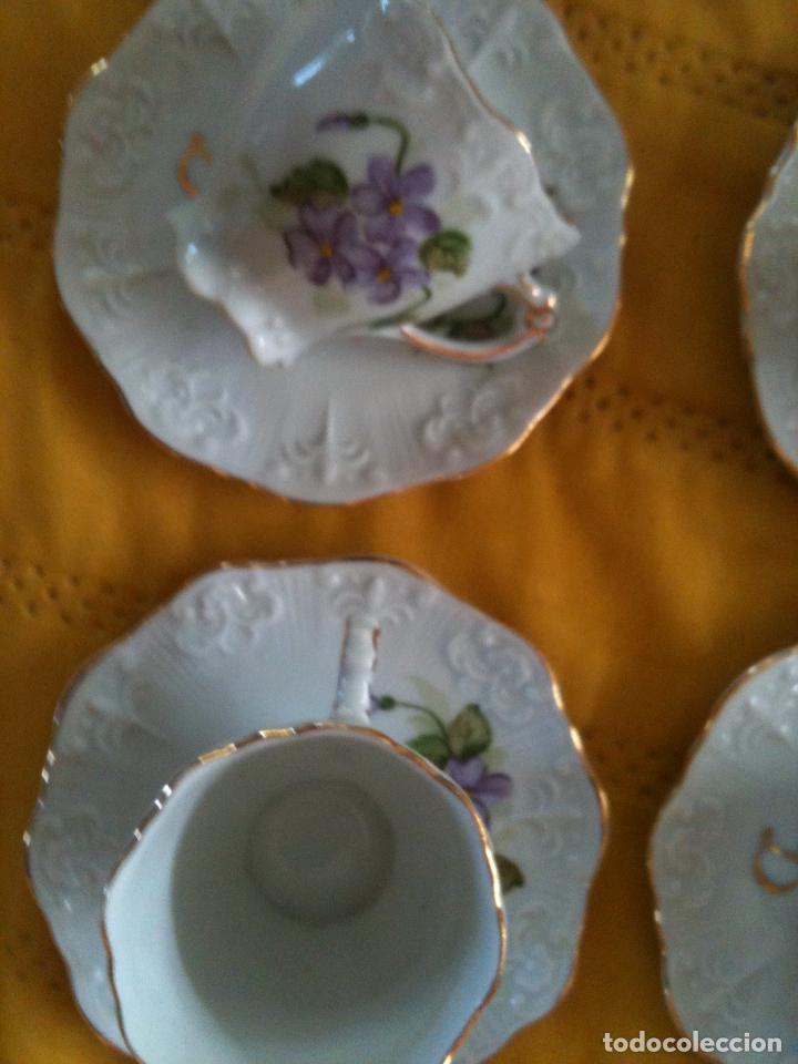 Antigüedades: JUEGO DE CAFE,COMPLETO-PINTADO A MANO,PILUCA-VIPOR-ESPAÑA-LIS - Foto 7 - 96184831