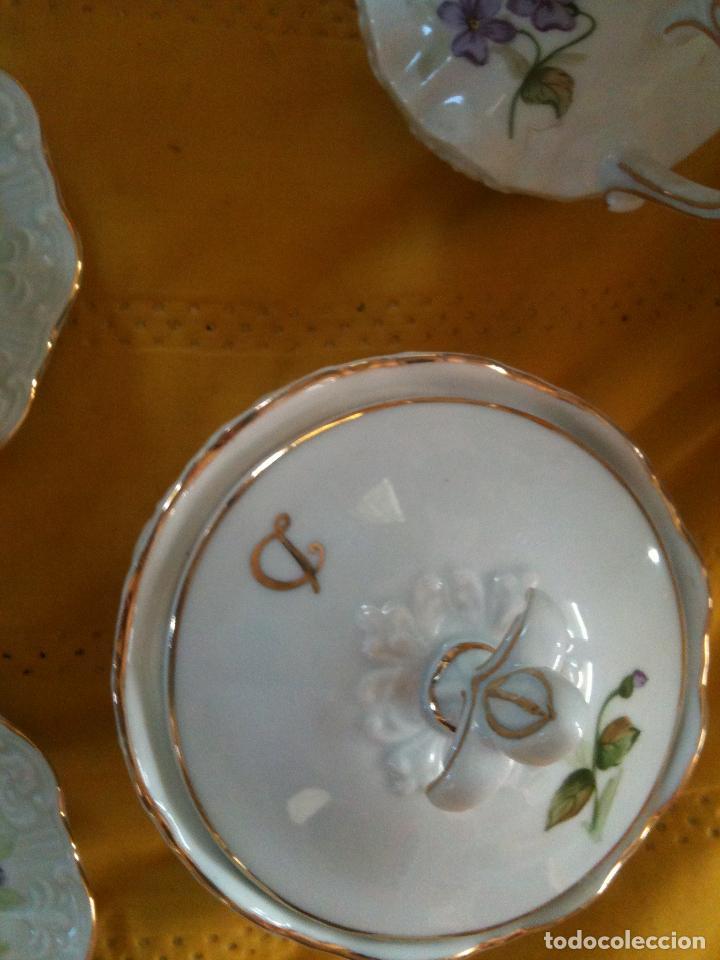 Antigüedades: JUEGO DE CAFE,COMPLETO-PINTADO A MANO,PILUCA-VIPOR-ESPAÑA-LIS - Foto 9 - 96184831