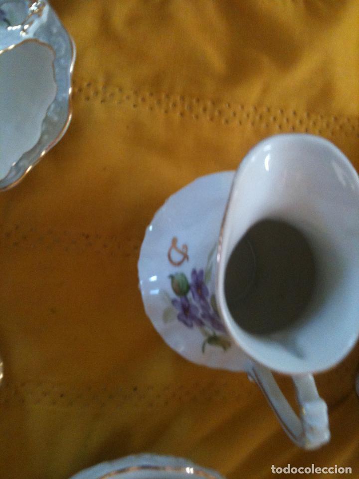Antigüedades: JUEGO DE CAFE,COMPLETO-PINTADO A MANO,PILUCA-VIPOR-ESPAÑA-LIS - Foto 10 - 96184831
