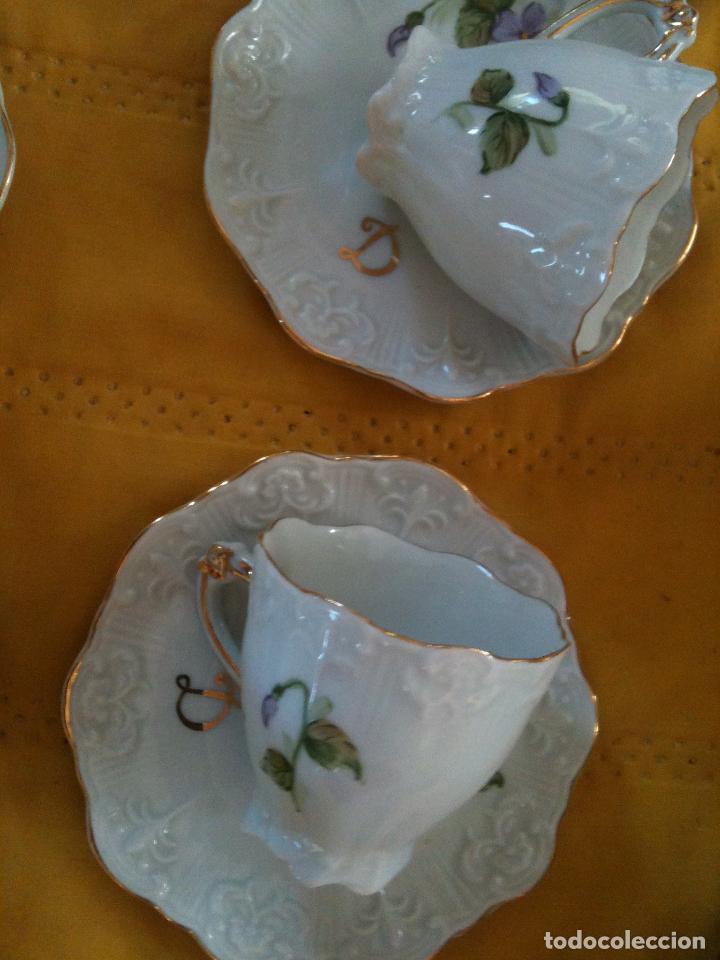 Antigüedades: JUEGO DE CAFE,COMPLETO-PINTADO A MANO,PILUCA-VIPOR-ESPAÑA-LIS - Foto 11 - 96184831