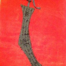 Antigüedades: FAJÍN DE PEDRERÍA AZABACHE SIGLO XIX. Lote 96185172