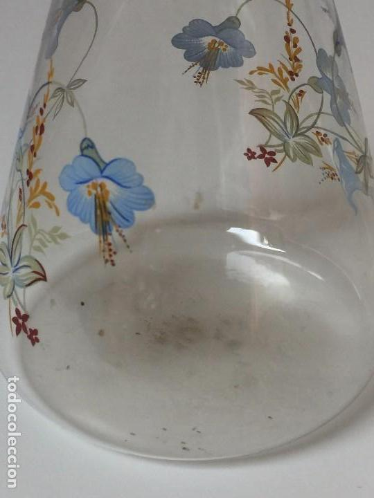Antigüedades: BOTELLA EN CRISTAL TIPO LABORATORIO CON DECORACIÓN FLORAL - Foto 6 - 96191787