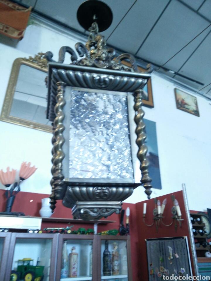 Antigüedades: Farol de laton - Foto 2 - 96216434