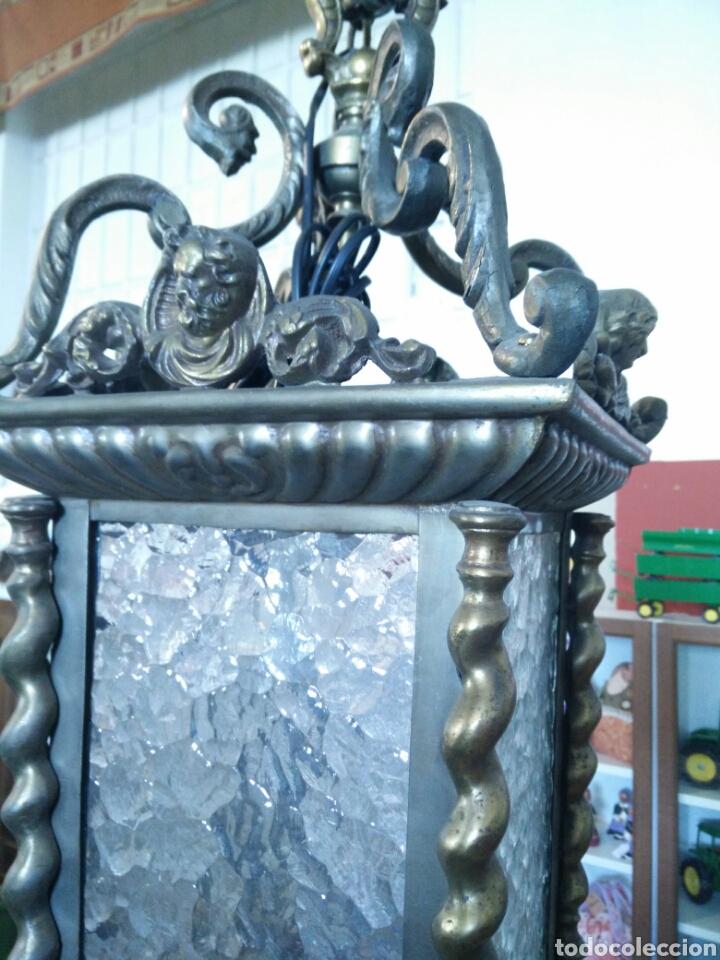 Antigüedades: Farol de laton - Foto 3 - 96216434