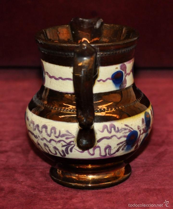 Antigüedades: ANTIGUA JARRA EN CERAMICA DE REFLEJOS (BRISTOL). FINALES SIGLO XIX - Foto 4 - 96224247