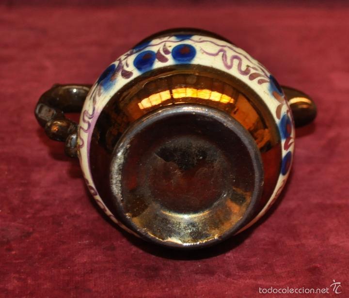 Antigüedades: ANTIGUA JARRA EN CERAMICA DE REFLEJOS (BRISTOL). FINALES SIGLO XIX - Foto 5 - 96224247