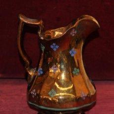 Antigüedades: ANTIGUA JARRA EN CERAMICA DE REFLEJOS (BRISTOL). CIRCA 1900. Lote 96225407