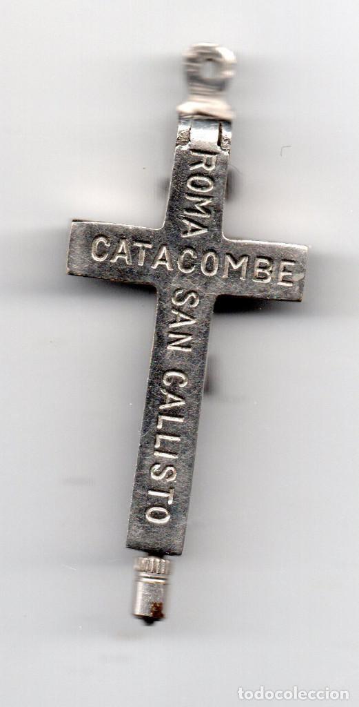 Antigüedades: Cruz tipo relicario Roma Catacombe San Callisto - Foto 2 - 96237163
