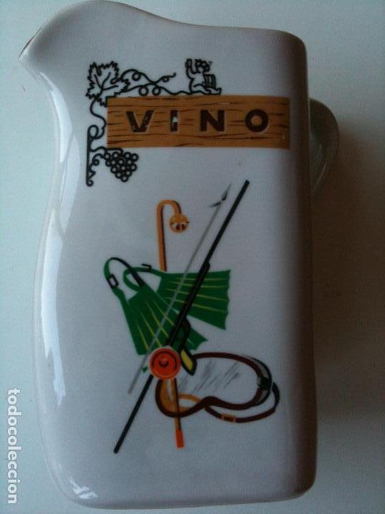 JARRA VINO,HISPANIA MANISES,21 CM ALTO (Antigüedades - Porcelanas y Cerámicas - Otras)