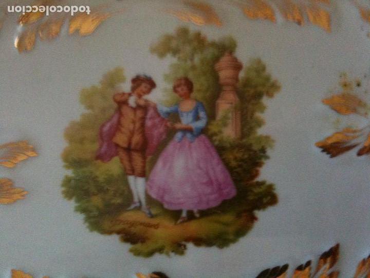 Antigüedades: BANDEJA DECORADA HISPANIA,MANISES,38 CM LARGA POR 15,5 ANCHA - Foto 2 - 96265091