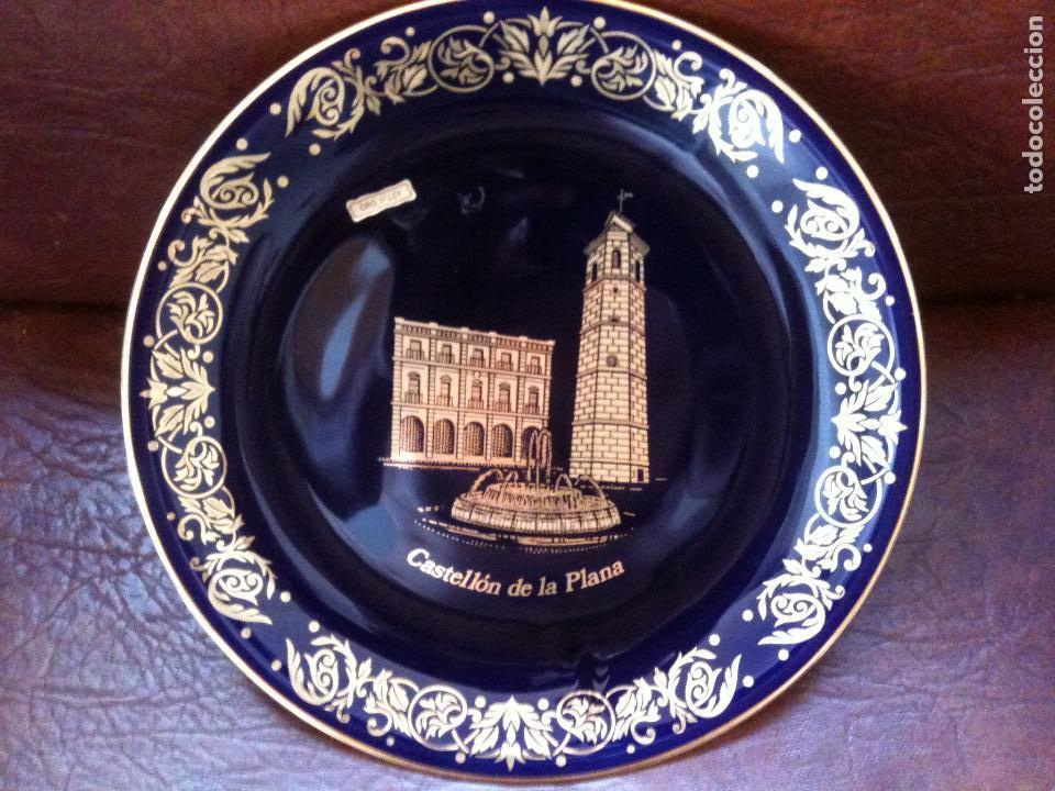 PLATO PINTADO CON ORO DE LEY-CASTELLON (Antigüedades - Porcelanas y Cerámicas - Otras)