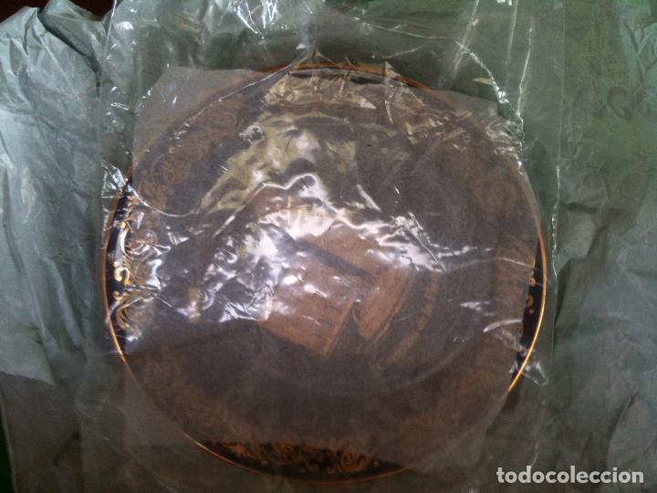 Antigüedades: PLATO PINTADO CON ORO DE LEY-CASTELLON - Foto 3 - 96293227