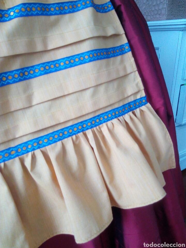 Antigüedades: Delantal juvenil indumentaria tradicional - Foto 3 - 96345460