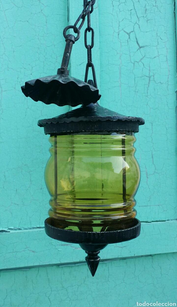 Antigüedades: Antigua lámpara -farol - Foto 2 - 96388051