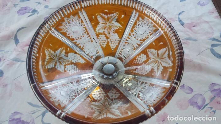 Antigüedades: antiguo centro de mesa de cristal tallado - Foto 2 - 96399759