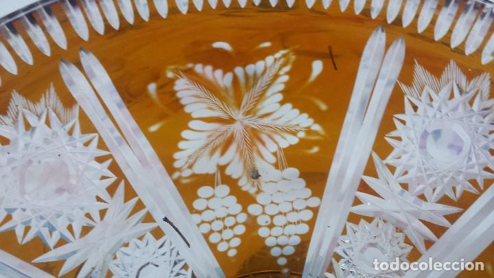 Antigüedades: antiguo centro de mesa de cristal tallado - Foto 3 - 96399759
