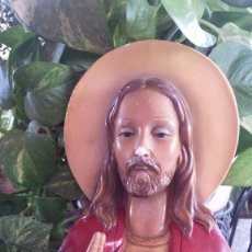 Antigüedades: ANTIGUA FIGURA SAGRADO CORAZON DE JESUS. Lote 96400035