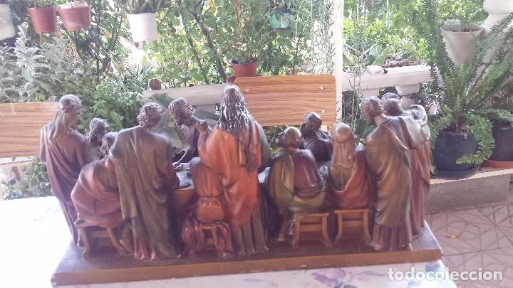 Antigüedades: ultima cena de jesus y peana en escayola - Foto 7 - 96400335