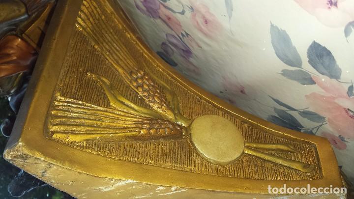 Antigüedades: ultima cena de jesus y peana en escayola - Foto 9 - 96400335