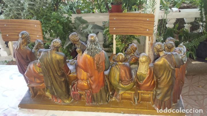 Antigüedades: ultima cena de jesus y peana en escayola - Foto 10 - 96400335