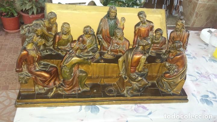 Antigüedades: ultima cena de jesus y peana en escayola - Foto 11 - 96400335