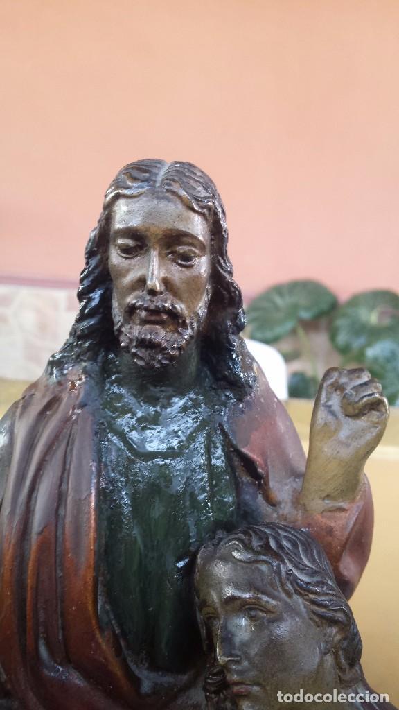 Antigüedades: ultima cena de jesus y peana en escayola - Foto 12 - 96400335