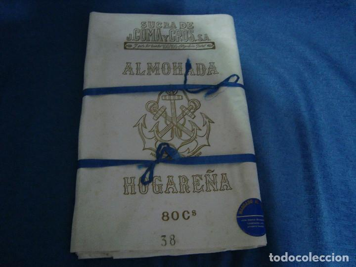 TELA ALMOHADAS J. COMA Y CROS S.A. 80CM DE ANCHO X 8 METROS (Antigüedades - Hogar y Decoración - Sábanas Antiguas)
