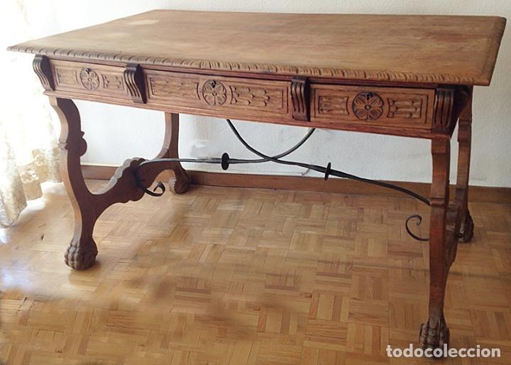 Mesa castellana de despacho escritorio hecha comprar - Mesas de escritorio antiguas ...