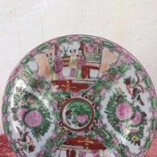 Antigüedades: PLATO ANTIGUO ORIENTALI EN PORCELANA PINTADO A MANO . Lote 96420495