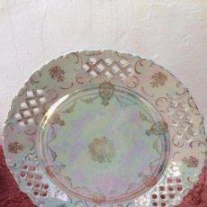 Antigüedades: PLATO ANTIGUO GRANDE EN PORCELANA SIGLO XIX. Lote 96435267