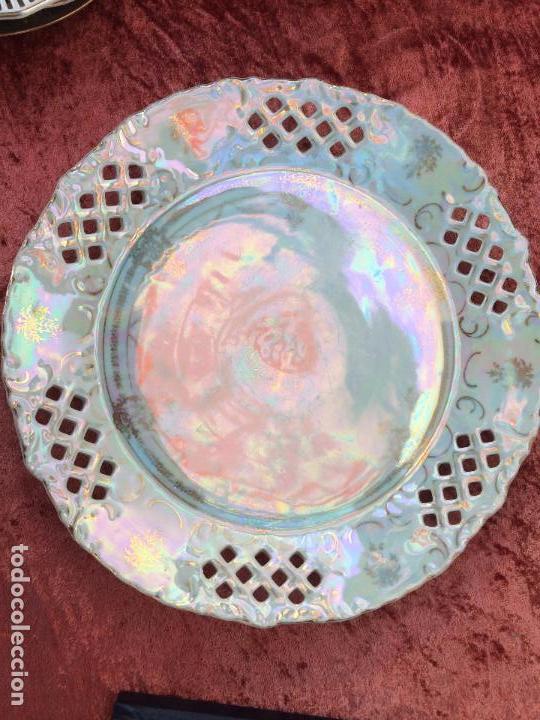 Antigüedades: PLATO ANTIGUO GRANDE EN PORCELANA SIGLO XIX - Foto 2 - 96435267