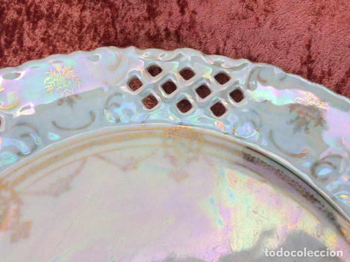 Antigüedades: PLATO ANTIGUO GRANDE EN PORCELANA SIGLO XIX - Foto 3 - 96435267